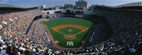 High angle view of a baseball stadium, Yankee Stadium, New York City, New York State, USA Fine Art Print