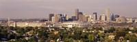 Daytime Photo of the Denver Colorado Skyline Fine Art Print