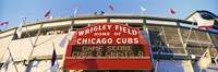 Red score board outside Wrigley Field,USA, Illinois, Chicago Fine Art Print