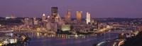 Night view of Pittsburgh Fine Art Print