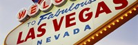 Close-up of a welcome sign, Las Vegas, Nevada Fine Art Print