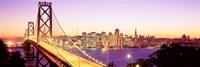 San Francisco Skyline with Golden Gate Bridge Framed Print