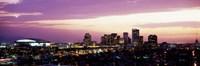 Phoenix with Purple Sky Framed Print