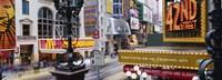 Road running through a market, 42nd Street, Manhattan, New York City, New York State, USA Fine Art Print