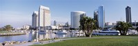 Panoramic View Of Marina Park And City Skyline, San Diego, California, USA Fine Art Print