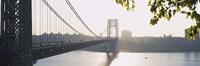 George Washington Bridge in black and white, New York City Framed Print