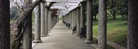 Columns Along A Path In A Garden, Maymont, Richmond, Virginia, USA Fine Art Print