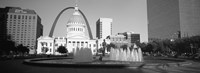 Fountain In Front Of A Government Building, St. Louis, Missouri, USA Fine Art Print