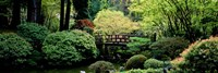 Panoramic view of a garden, Japanese Garden, Washington Park, Portland, Oregon Fine Art Print