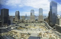 High angle view of buildings in a city, World Trade Center site, New York City, New York State, USA, 2006 Fine Art Print