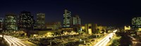 Buildings in a city lit up at night, Phoenix, Arizona Fine Art Print