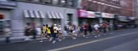 People running in New York City Marathon, Manhattan Avenue, Greenpoint, Brooklyn, New York City, New York State, USA Fine Art Print