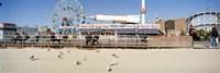 Tourists at an amusement park, Coney Island, Brooklyn, New York City, New York State, USA Fine Art Print
