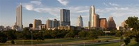Buildings in a city, Austin, Texas Fine Art Print