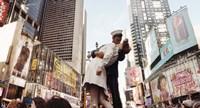 Sculpture in a city, V-J Day, World War Memorial II, Times Square, Manhattan, New York City, New York State, USA Fine Art Print