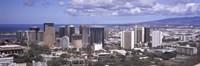 High angle view of a city, Honolulu, Oahu, Honolulu County, Hawaii, USA 2010 Fine Art Print
