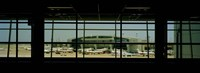 Airport viewed from inside the terminal, Dallas Fort Worth International Airport, Dallas, Texas, USA Fine Art Print