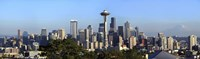 Seattle city skyline and downtown financial building, King County, Washington State, USA 2010 Fine Art Print