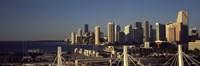 Buildings in a city, Miami, Florida, USA Fine Art Print