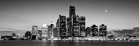 Buildings at the waterfront, River Detroit, Detroit, Michigan, USA Fine Art Print