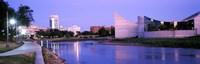 Buildings at the waterfront, Arkansas River, Wichita, Kansas, USA Fine Art Print