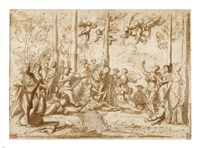 Apollo and the Muses on Mount Parnassus Fine Art Print