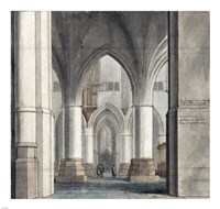 The Choir and North Ambulatory of the Church of Saint Bavo Fine Art Print
