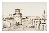 Landscape with a View of a Fortified Port Fine Art Print