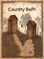 His and Hers Outhouses Fine Art Print