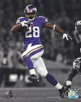 Adrian Peterson 2013 Spotlight Action Framed Print