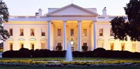 USA, Washington DC, White House, twilight Fine Art Print