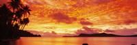 Sunset, Huahine Island, Tahiti Fine Art Print