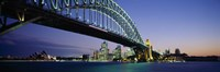 Low angle view of a bridge, Sydney Harbor Bridge, Sydney, New South Wales, Australia Fine Art Print