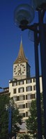 Low angle view of a clock tower, Zurich, Canton Of Zurich, Switzerland Fine Art Print