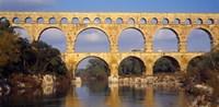 Aqueduct, Pont Du Gard, Provence-Alpes-Cote d'Azur, France Fine Art Print