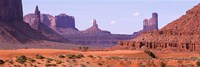 View To Northwest From 1st Marker In The Valley, Monument Valley, Arizona, USA, Fine Art Print
