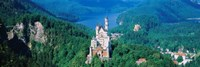 High angle view of a castle, Neuschwanstein Castle, Bavaria, Germany Fine Art Print
