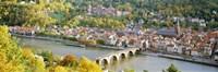 Aerial view of Heidelberg Castle and city, Heidelberg, Baden-Wurttemberg, Germany Fine Art Print