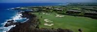 Aerial Francis H Li Brown Golf Course, Hawaii, USA Fine Art Print