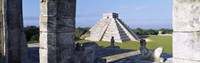 Pyramid in a field, El Castillo, Chichen Itza, Yucatan, Mexico Fine Art Print