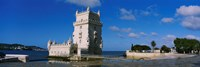 Fort at the coast, Torre De Belem, Lisbon, Portugal Fine Art Print