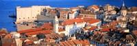 Aerial View, Old Town, Dubrovnik, Croatia Fine Art Print