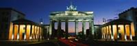 Low angle view of a gate, Brandenburg Gate, Berlin, Germany Fine Art Print
