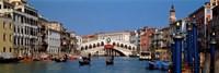 Bridge across a canal, Rialto Bridge, Grand Canal, Venice, Veneto, Italy Fine Art Print