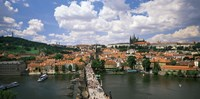 Aerial view of Charles Bridge Prague Czech Republic Fine Art Print