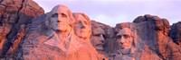 Mount Rushmore, South Dakota (red hue) Fine Art Print