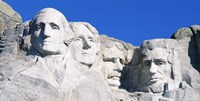Mount Rushmore in White Fine Art Print