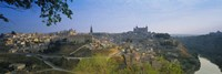 Aerial View Of A City, Toledo, Spain Fine Art Print
