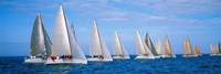 Yachts in the ocean, Key West, Florida, USA Fine Art Print