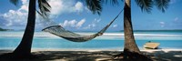 Hammock on the beach, Cook Islands South Pacific Fine Art Print